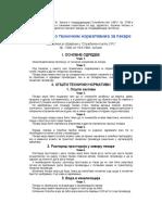 Pravilnik o Tehnickim Normativima Za Pekare