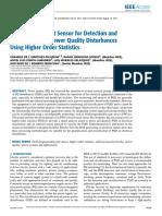 FPGA-Based Smart Sensor for Detection and Classification of Power Quality Disturbances Using Higher Order Statistics