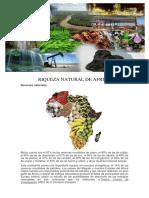 Riqueza Natural de Africa