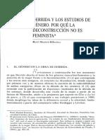 DERRIDA Y LOS ESTUDIOS DE GÉNERO. POR QUÉ LA DECONSTRUCCIÓN NO ES FEMINISTA