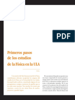 Primeros pasos de los estudios de la Física en la ULA