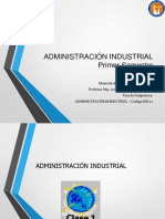 Clase N° 1 Adm. Industrial 2018