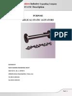 Helical Static Mixer Data Sheet