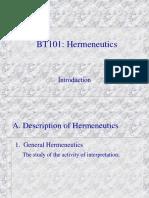 05 Introduction to Hermeneutics