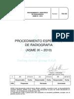Tsg 455 Procedimiento Especifico de Radiografia Asme Ix-2010