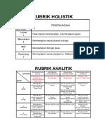 Perbezaan Rubrik Holistik Dan Rubrik Analitk Tuto 4