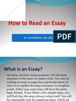 ReadING an Essay