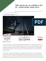 Jorge Drexler_ _Não Queria Ser Um Surfista e Sim Um Escafandrista_, Revela Cantor Sobre Novo Álbum - TMDQA!