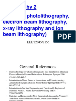 8 -Photolithography Part 2 and Other Lithography