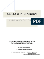 Objeto de Intervencion