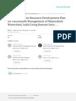 Integrated Water Resource Development Plan