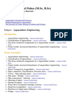 Aquaculture  Engineering  - Lecture Notes and Study material for college students