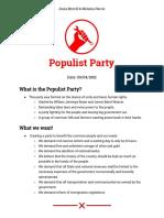 poplulist party