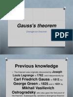 Gauss's Theorem