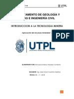 Informe Introduccion Teconologia Minera