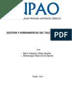 Gestion y Herramientas Del Talento Humano y Peru Productor de Materia Prima