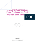 Myths and Misconceptions Public Opinion Versus Public Judgment About Sentencing