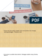 Analisis Ekstrenal Dan Analisis Pelanggan