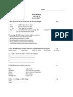 4t6h Grade Test Paper
