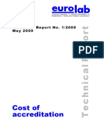 Cost of Accreditation