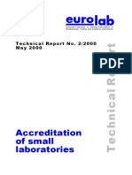 Accreditation of Small Laboratories