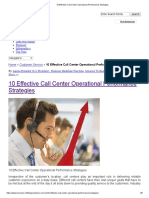 10 Effective Call Center Operational Performance Strategies