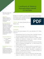 Cuestionario de Madurez Infantil