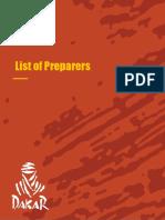 Catalog of Dakar Official Preparers