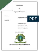 Zahid Riaz Corporate Governance