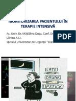 Monitorizarea Pacientului in Terapie Intensiva