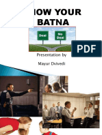 Know Your Batna