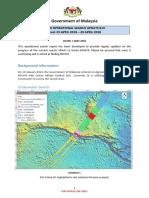MH370 Operational Search Update #14 Period 23 April 2018 - 29 April 2018