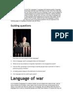 IB English Language and Literature (Language and Power)