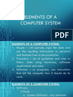 Elements of a Computer System