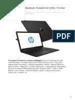 PC Portable HP Notebook 15-Bs041nk i5 8Go 1To Noir 2HR39EA
