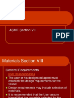 ASME Section Materials Viii