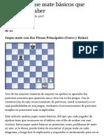 Jaque mate básicos del ajedrez con torre y reina
