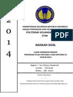 Soal Dan Pembahasan Tpa Tbi Pkn Stan 2014