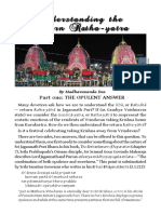 Understanding the Return Ratha Yatra Part-01