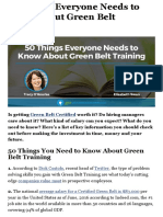 50 Things Everyone Needs to Know About Green Belt Training
