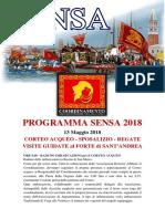 Programma Sensa 2018 Integrale
