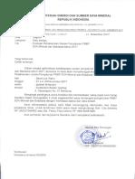 Undangan Peserta No 3617 Evaluasi Pelaksanaan Usulan Penyaluran PNBP SDA Mineral Dan Batubara Tahun 2017