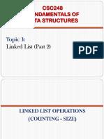 3) Linked List (Part 2)