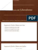 A resistência ao Liberalismo