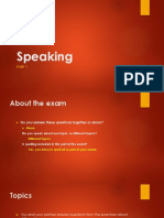Speaking Part 1