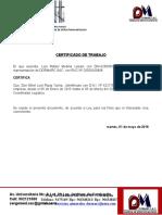 Certificado de Trabajo Dormarc