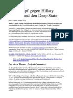 Der Kampf Gegen Hillary Clinton Und Den Deep State