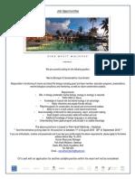 Ad - 01-05-2018 - Marine Biologist and Sustainability Coordinator