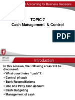 Topic 7 Cash Management & Control