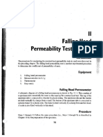 9 Falling Head Permeability Test